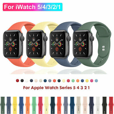 $ CDN3.62 • Buy For Apple Watch Series 5 4 3 2 1 Silicone Sports Band Strap IWatch 38/42/40/44mm
