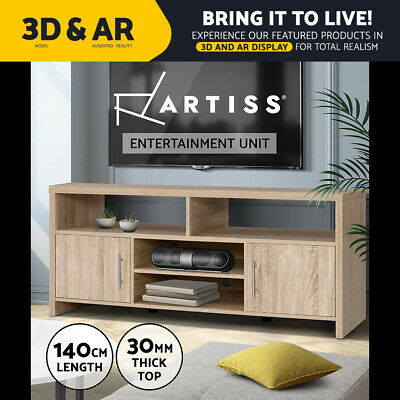AU149.95 • Buy Artiss TV Cabinet Entertainment Unit Stand Storage Shelf Sideboard Oak