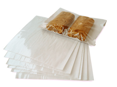 £2.75 • Buy CLEAR Film Front Cellophane Paper Food Bags Sandwich Bakery Cake, 7 X7 ,10 X10