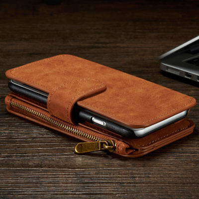 Case For IPhone Models Zip Coin Purse Card Slot Flip Leather Wallet Phone Cover • 18.99£