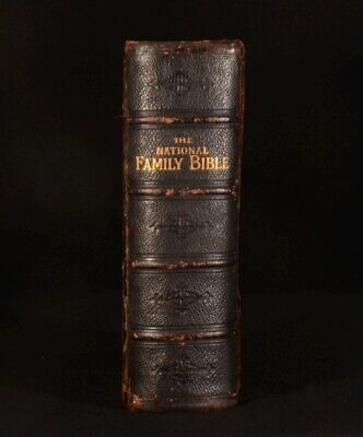 £487.50 • Buy C1880 National Family Bible Brass Clasps Illustrated
