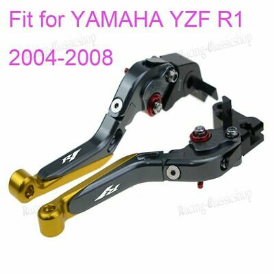 AU66.58 • Buy Motorcycle Folding Extendable Brake Clutch Lever For YAMAHA YZF R1 2004-2008 RC