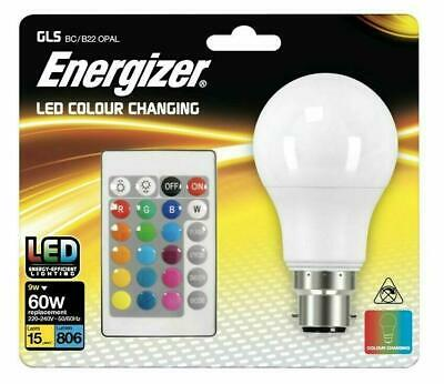 £11.99 • Buy 1 X Energizer Colour Changing Light Bulb B22 GLS LED RGB+W With Remote Control