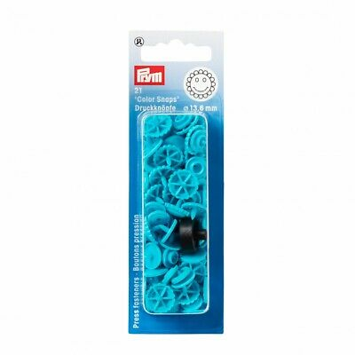 Prym Flower Plastic Press Fasteners - Turquoise • 3.09£