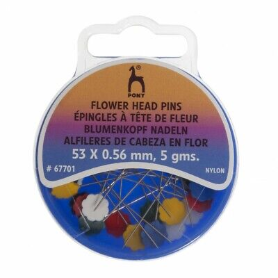Pony Flower Head Pins • 2.59£