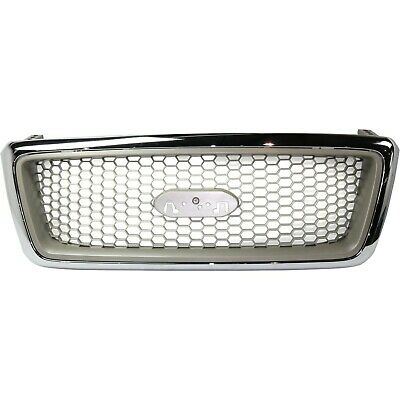 $84.90 • Buy Grille For 2004-2008 Ford F-150 Chrome Shell W/ Beige Insert Plastic