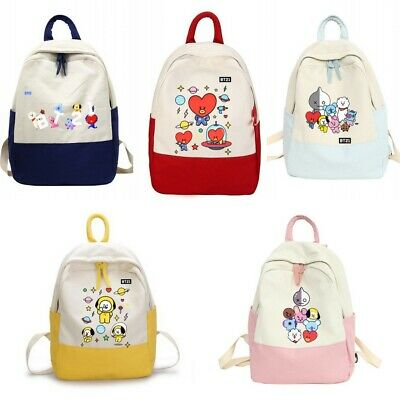 $23.98 • Buy BTS Bangtan Boys Cartoon BT21 Backpack School Student Bookbag Shoulder Bags