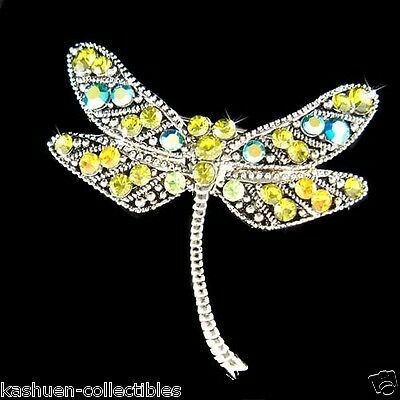 £31.55 • Buy Green Dragonfly Pin Made With Swarovski Crystal Antique Style Pin Brooch Jewelry