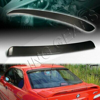 $129.95 • Buy Vip Real Carbon Fiber Rear Window Roof Spoiler Wing Fit 92-98 Bmw E36 Coupe