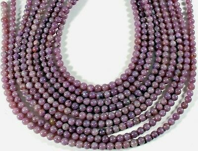 $10.25 • Buy Lovely Natural Purple Lepidolite 5mm Round Beads 16  Strand