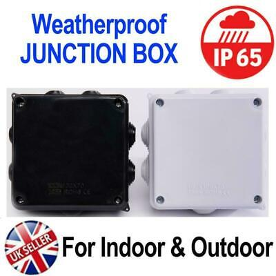 £5.64 • Buy IP65 Weatherproof Junction Box Case 100x100x70mm For Outdoor Electric CCTV Cable