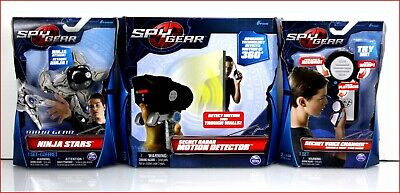 LOT 3- Spy Gear Secret RADAR MOTION DETECTOR + VOICE CHANGER + NINJA STARS • 31.45£