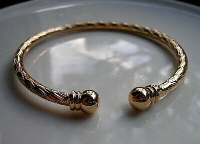 STUNNING 9ct Gold Bracelet Torque Bangle Gf ,SELLING OUT FAST! NOT MANY LEFT! 53 • 29.95£