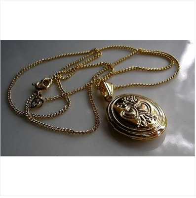 9CT GOLD GF LOCKET ON CHAIN NECKLACE SILLY PRICE 9ct Gold Bling 98 • 24.95£