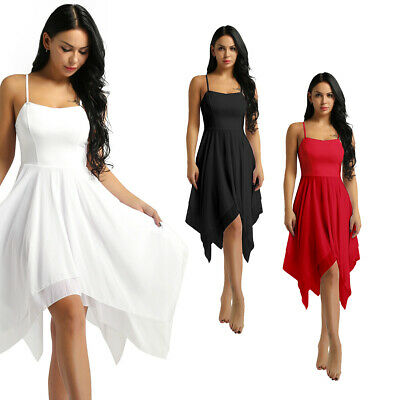 Women Elegant Modern Lyrical Dance Dresses High-Low Contemporary Dancing Dress • 16.39£