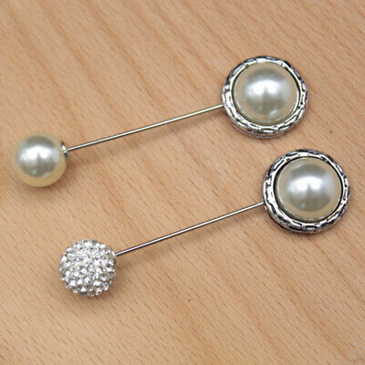 Women Safety Cape Scarf Strap Shawl Pin Brooch Holder Faux Pearl • 3.49£