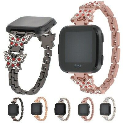 $ CDN18.05 • Buy For Fitbit Versa Rhinestone Wrist Band Strap Replacement Bracelet Butterfly NEW