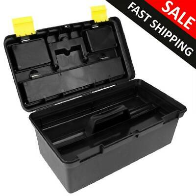 Large Plastic Tool Box Chest Set Handle Tray Compartment Diy Storage Toolbox Uk • 12.57£