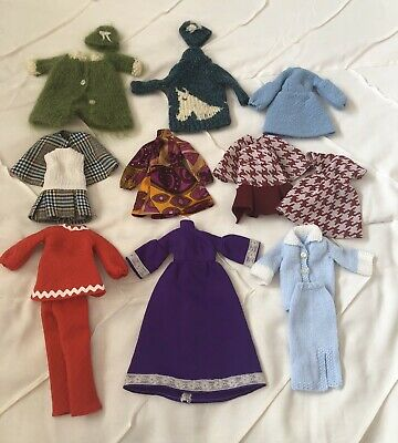 $ CDN15.99 • Buy Retro Vintage 1960/70s Barbie Handmade Clothes Authentic Fabrics 16 Piece