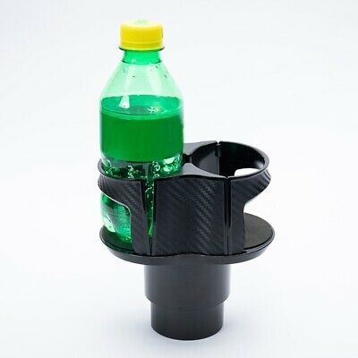 For Car Interior Parts Carbon Fiber Center Console Drink Cup Holder Box ABS X1 • 12.34$