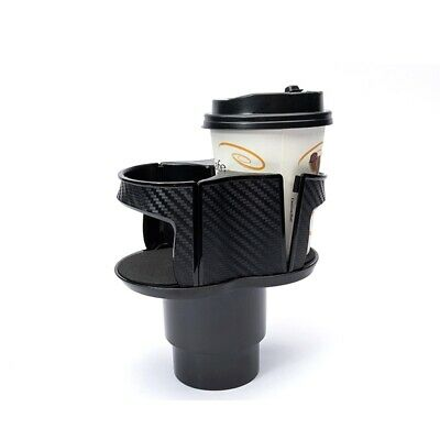 Car Interior Parts Carbon Fiber Style Center Console Drink Cup Holder Box ABS • 12.34$