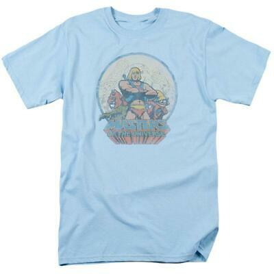$19.99 • Buy He-Man Masters Of The Universe Retro 80's Cartoon Distressed Blue T-shirt DRM267