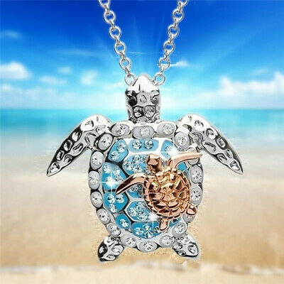 AU2.03 • Buy Women Marine Turtle Pendant Necklace Chain For Mother's Day Parent-child Jewelry