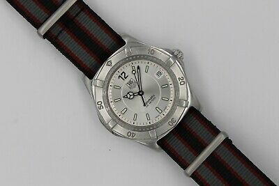 Tag Heuer 2000 AUTOMATIC Professional WK2116 Watch Mens SILVER GRAY MINT CRYSTAL • 425$