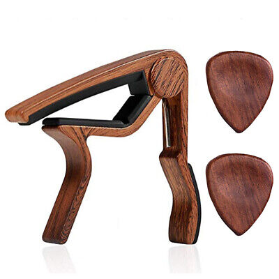 $ CDN18.26 • Buy Guitar Capo Rosewood Color With 2Pcs ROSEWOOD PICKS For Acoustic Electric Guitar