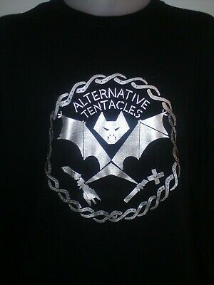 £12.99 • Buy ALTERNATIVE TENTACLES LOGO LABEL MENS MUSIC T SHIRT Dead Kennedys   Nomeansno