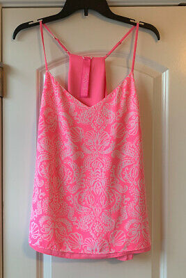$50 • Buy NWT Lilly Pulitzer Dusk Top Havana Pink Clawdia REVERSIBLE Size Large Free Ship