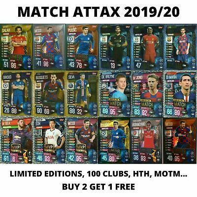 Match Attax 2019/20 19/20 100 Club Limited Editions Hat Trick Hero, 2+1 Free!  • 1.49£