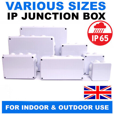 Junction Box IP65 Waterproof Enclosure Terminal Electric Cable Wire Outdoor Grey • 6.45£