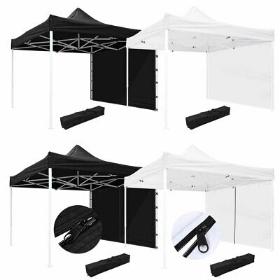 $135.99 • Buy 10x10' EZ Pop Up Canopy Commercial Tent Outdoor Business Gazebo Shelter Sidewall