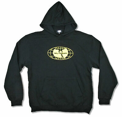 $ CDN76.42 • Buy Wu-Tang Clan Wu Wear Globe Bat Logo Black Pullover Sweatshirt Hoodie Official