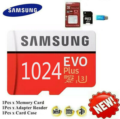 Samsung 1024GB SD Memory Card Class 10 TF Flash Memory Card With Adapter • 14.40$