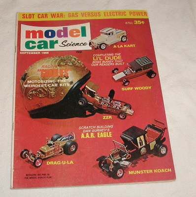 Model Car Science Magazine September 1966 Racing Ghoulies Slot Cars Gas/Electric • 9.99$