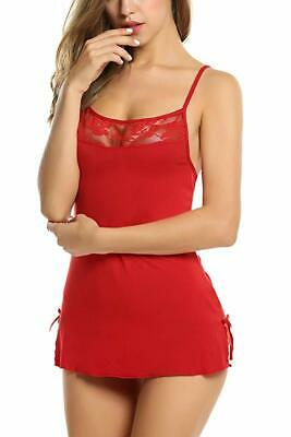 AU13.99 • Buy Sexy Lingerie Underwire Lace Dress Chemise Babydoll Intimates + G-String #251