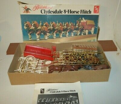 $ CDN162.91 • Buy Vintage Budweiser Clydesdale Horse Wagon Model Kit AMT Partially Assembled
