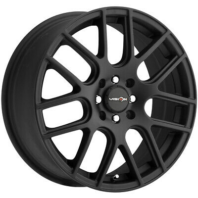 $100.99 • Buy Vision 426 Cross 14x5.5 4x100/4x4.5  +38mm Matte Black Wheel Rim 14  Inch
