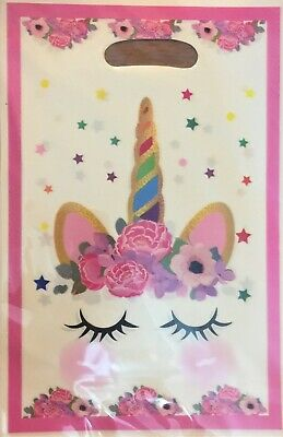 AU3.75 • Buy 10 Flower Unicorn Party Gift Bags Candy Favour Bag Loot Bags For Birthday