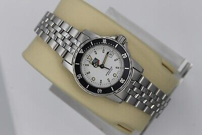 Tag Heuer WD1413.BA0614 White 1500 Professional Silver SS Watch Womens Parts • 170$