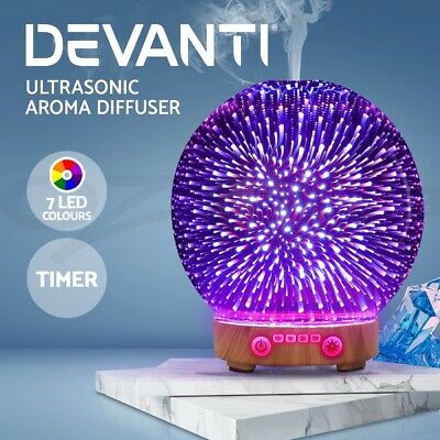 AU37.95 • Buy Devanti Aromatherapy Diffuser Aroma Humidifier Ultrasonic 3D Firework Light Oil