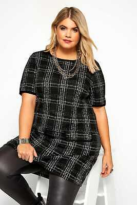 AU26.49 • Buy Yours Clothing Womens Plus Size Check Tunic