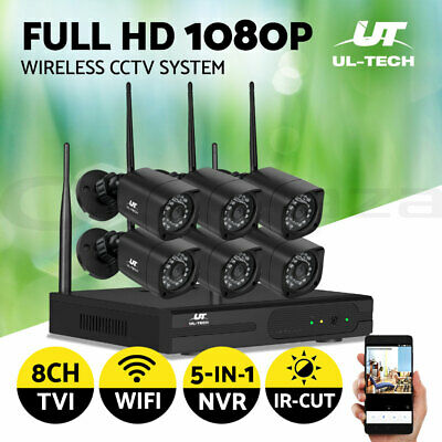 AU290.99 • Buy UL-tech CCTV Wireless Security System Home Camera Kit Outdoor IP WIFI 1080P 8CH