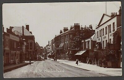 Postcard Maidenhead Berkshire The High Street And The Bear Hotel Posted 1909 RP • 6.99£