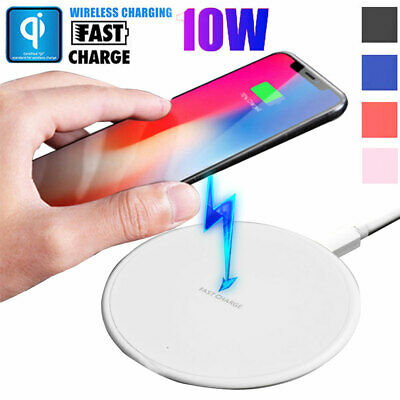 $ CDN5.32 • Buy 10W Qi Wireless Fast Charger Charging Pad Mat Dock For IPhone 11 Pro XS Max XR X