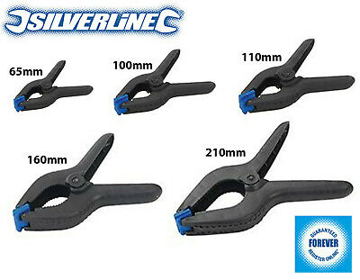 £11.95 • Buy 5 X Silverline Spring Clamps Small - Extra Large Quick Grips DIY Woodwork Crafts