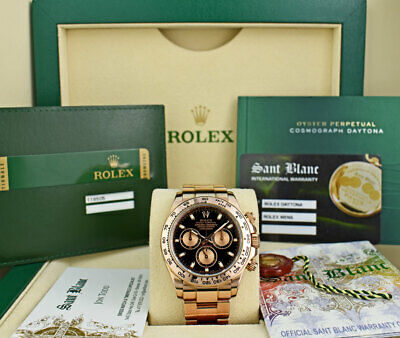 $ CDN47519.48 • Buy ROLEX - 18kt Rose Gold Daytona Black PANDA Box Papers CARD 116505 - SANT BLANC