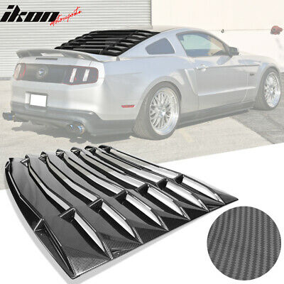 $289.99 • Buy Fits 05-14 Ford Mustang IKON Style Rear Window Louvers Carbon Fiber Print